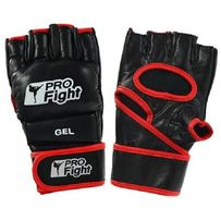 Rękawice MMA GLOVES PROFIGHT SKÓRA czarny - różne rozmiary