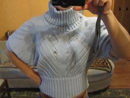 Новый модный, летучья мышь рукав, светло-серый свитер