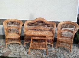 """Комплект мебелі з лози """"Еліт"""" (Мебель садова з лози)"""