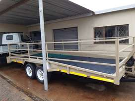 Double Axle Car trailer with Winch R85000