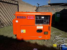 ECCO 7Kw/ 7000watts diesel generator for only R16800 brand new