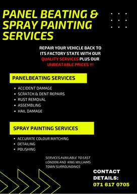 Spray Painting and Panel Beating Services