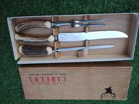 Old English  Stag Handle Carvers