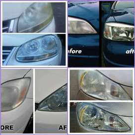 Vehicle headlight cleaning