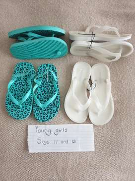 BRAND NEW Young girls flip flops Size 11 & 13 R60 each
