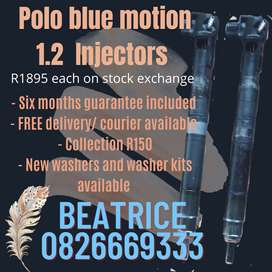 Polo blue motion 1.2 injectors for sale