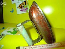 Игрушка детская утюг металлический советская старинная винтажная б/у