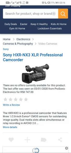 Sony NX3 professional video cameras