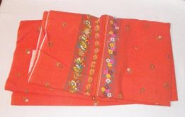 Ткань — отрез — бязь индийская, оранжевая, мягкая