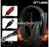 Новые геймерские наушники Brand Q7 USB с микрофоном.