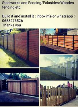 WOODEN fencing and palasides GATES etc