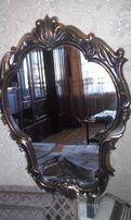 Зеркало в металлической литой оправе в стиле барокко