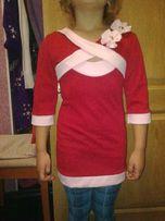 Нарядное красное Платье-Туника
