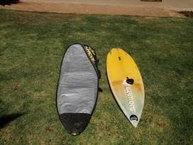 Surf board and surfboard cover