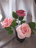 Роза из полимерной глины. Ручная работа. Подарок на день рождения маме