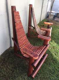 Image of Comfy Wooden Deck Chairs