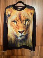 Bluzka z długim rękawem z motywem lwa Atmosphere L/XL