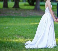 Suknia ślubna 34 dla niewysokiej i szczupłej Panny Młodej