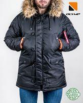 Версия 2018! 3 цвета! Аляска N-3B от Olymp Парка Куртка мужская зимняя