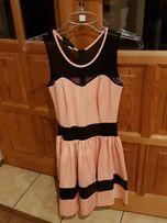 Pudrowa sukienka!