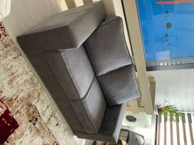 Two Seater Suede Couch