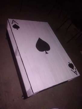 Ace of Spade table, hand crafted
