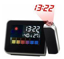 Часы метеостанция с проектором 8190 ( термометр календарь будильник )