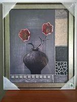 2 Tulipany w grafitowym wazone / reprodukcja 40x50