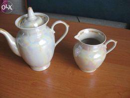 Дешево! Новый перламутровый набор чайник и кувшин для молока