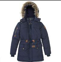 Теплая парка-куртка на 130-140см