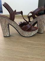 Красивые модные босоножки, обувь, туфли 12 см каблук