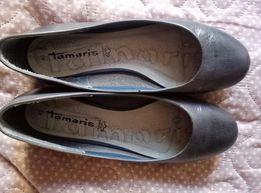 Кожаные балетки Tamaris