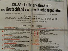 Stara niemiecka mapa lotnicza