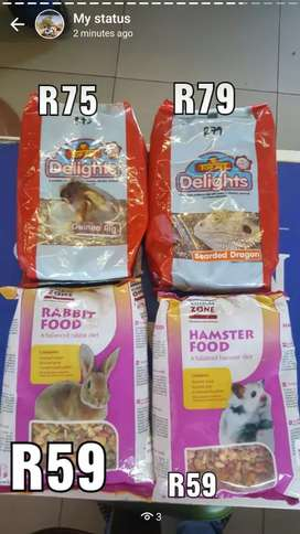 Hamster,rabbit ,guinea pig and bearded dragon food and accessorise