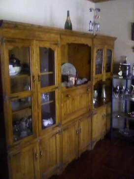 Beautiful solid orgegon pine display unit for sale