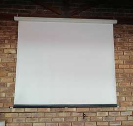 Projector screen - wall mounted 1700x1800