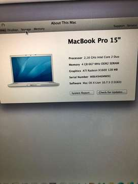 Macbook Pro late 2006 for sale