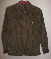 Koszula sztruksowa zielona w kratkę na wzrost 158/164 cm rozmiar XXL