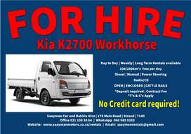 Kia K2700 Workhorse for Hire