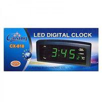 Настольные электронные сетевые 818 LED часы-будильник