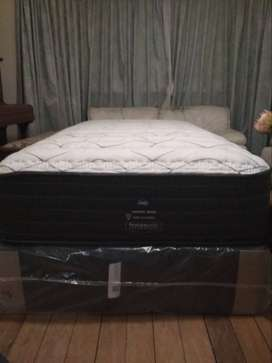 Brand New SEALY POSTUREPEDIC REALTO three quarter (mattress and base)