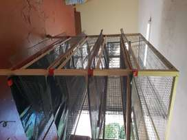 Quail cages 4 tier 8 cages in total