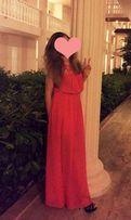 Красивое платье в пол, размер S-L, летнее, шифон!
