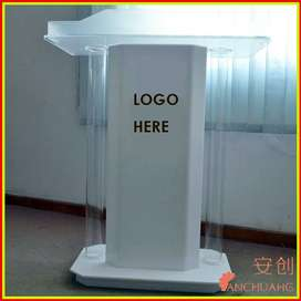 White Customized Church Lectern Opening Sale