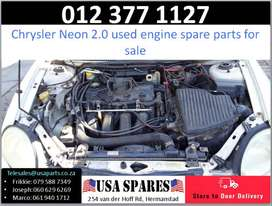 Chrysler Neon 2.0* 1999-05 used engine spare parts for sale