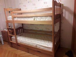 Букове дитяче ліжко-трансформер. Доставка по Україні