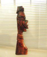 Настенный барельеф Африканка, дерево, приблизительно 1960-70г