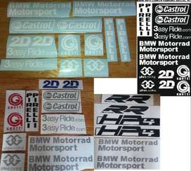 S1000 RR HP4 lower fairing sponsor decals stickers kits