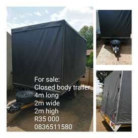Closed body Trailer for sale