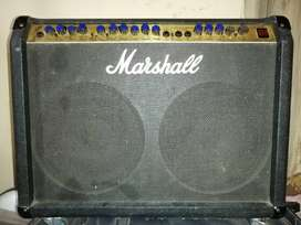 Electric guitar and lead amp